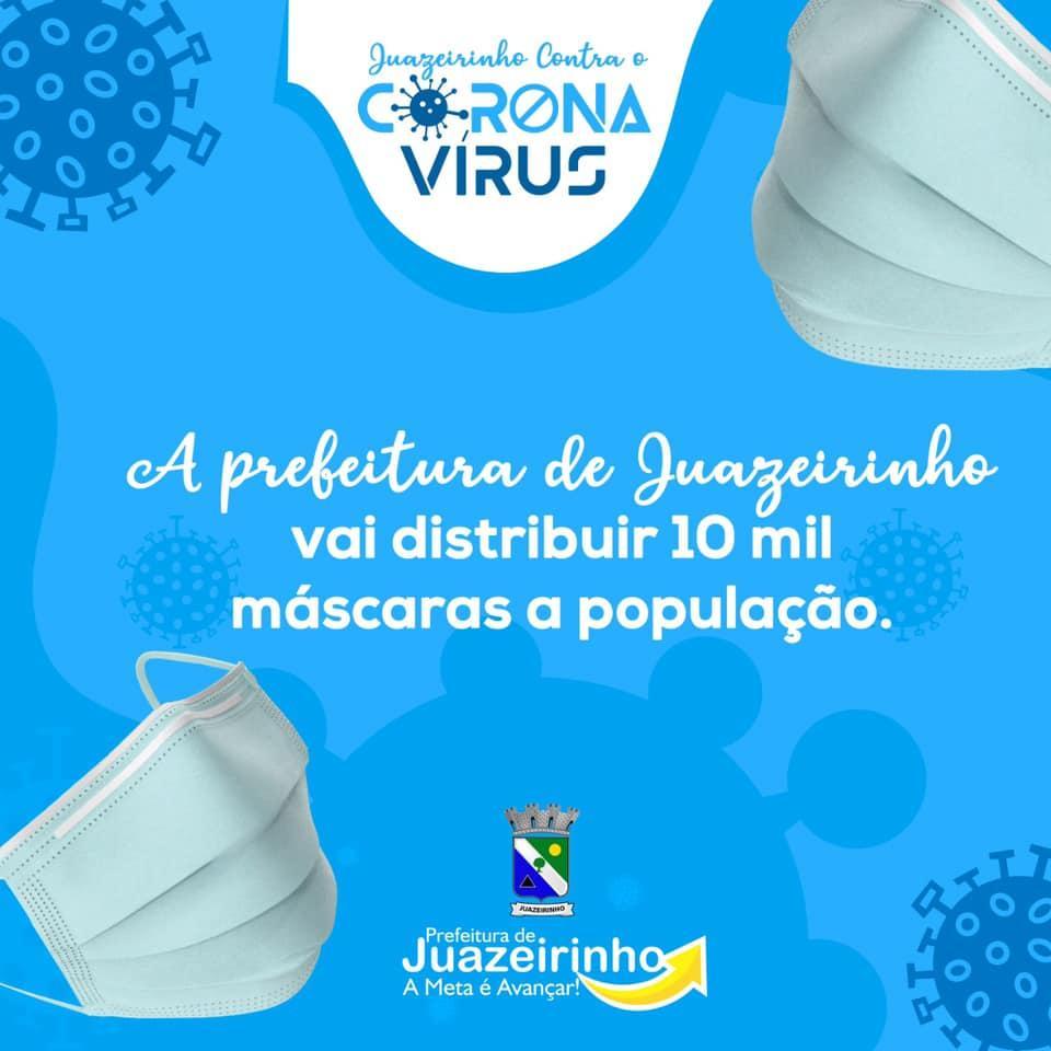 Distribuição de 10 mil máscaras a população.