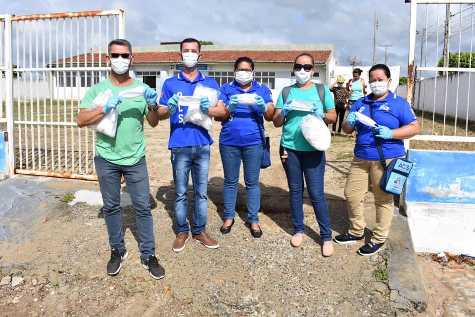 Distribuição de máscaras através do Agente Comunitário de Saúde.