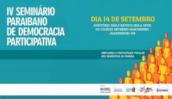 IV SEMINÁRIO PARAIBANO DE DEMOCRACIA PARTICIPATIVA