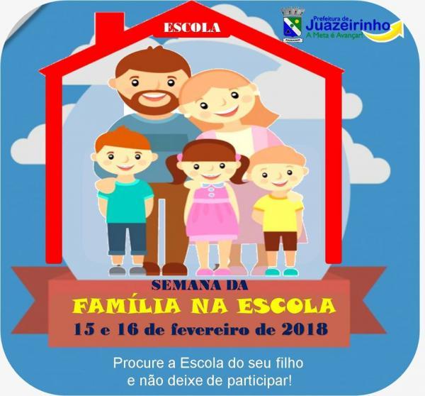 Semana da Família na Escola 2018 inicia hoje na Severino...