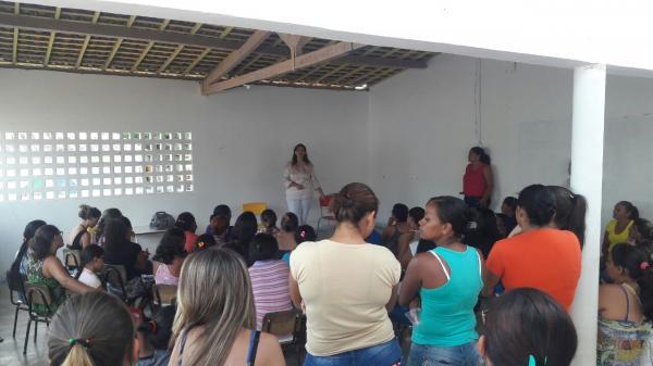 NASFrealiza palestras de prevenção a saúde para mães de crianças das Creches de Juazeirinho