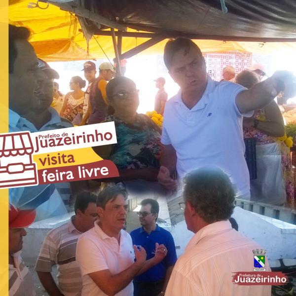 Prefeito visita feira livre de Juazeirinho