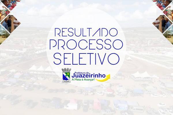 PREFEITURA MUNICIPAL DE JUAZEIRINHO TORNA PÚBLICO RESULTADO FINAL DO PROCESSO...