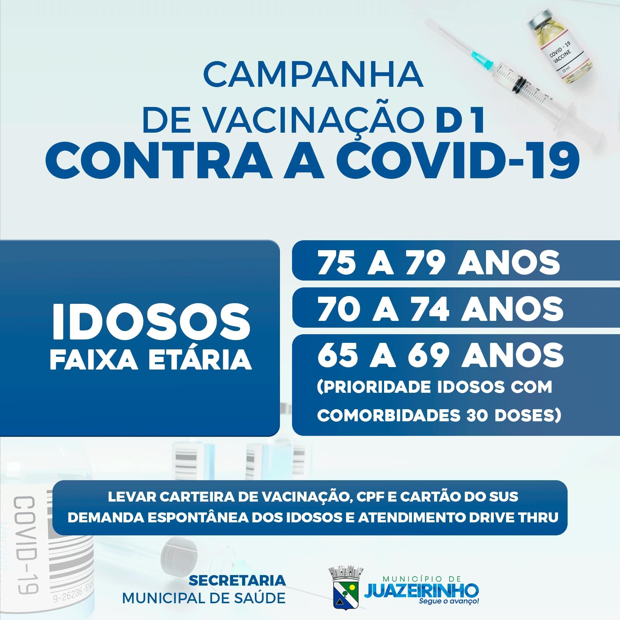 A cidade de Juazeirinho inicia, nesta terça-feira, 23, a vacinação...