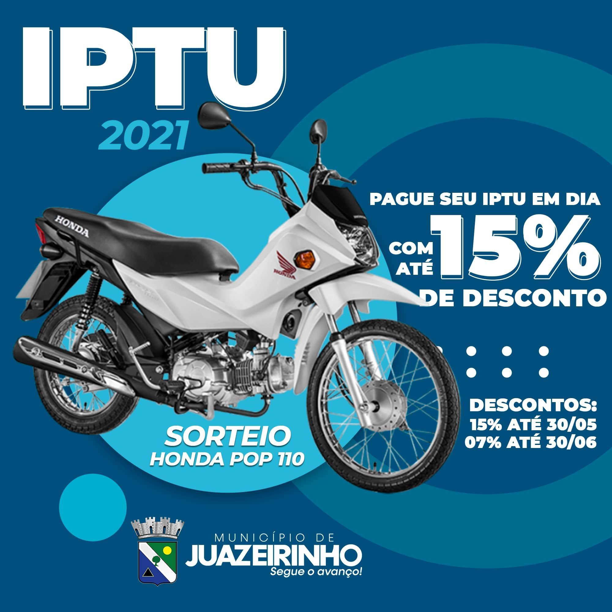 Pague o seu IPTU em dia e concorra ao IPTU Premiado!